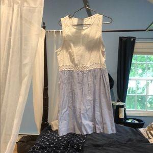 Lily Pulitzer lace/seersucker dress